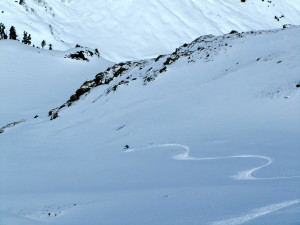 North facing powder skiing!