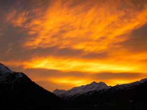 December is the best month for sunsets at the chalet.  This has been top so far!