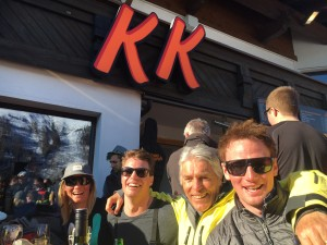Wonderful weather to enjoy apres outside at the KK, this time with Gunnar, who owned it for 35 years.